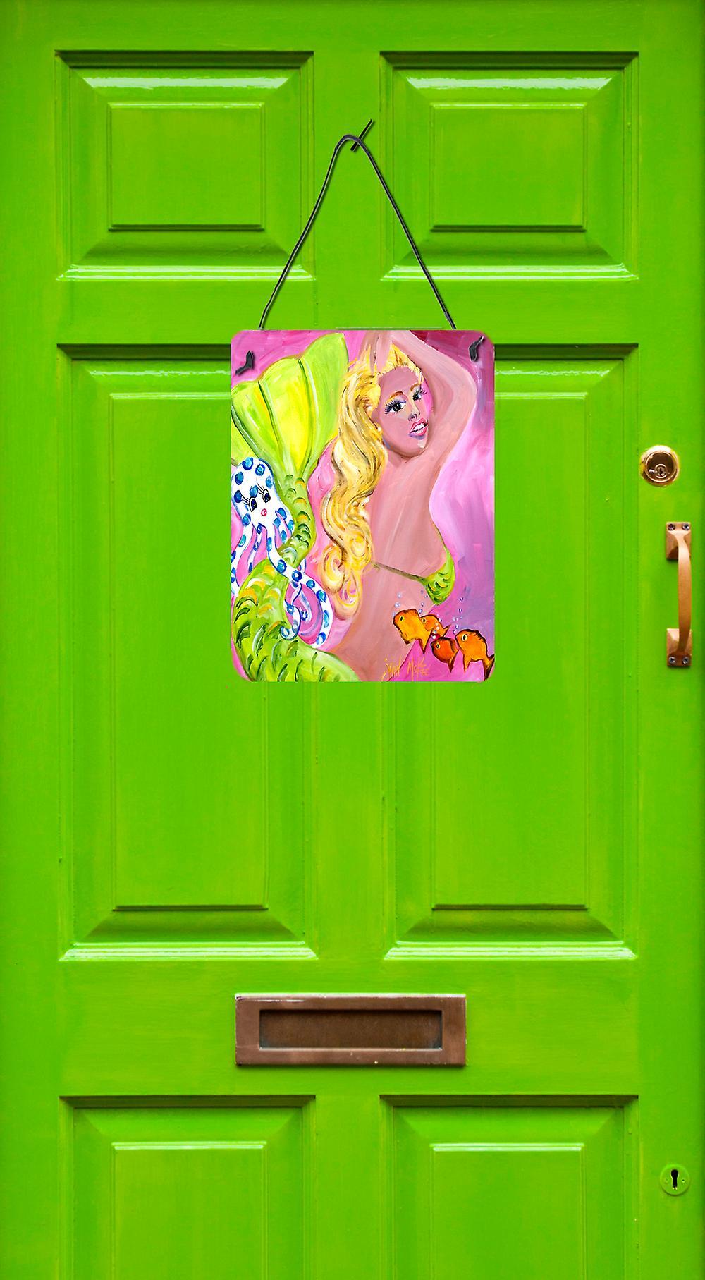 Carolines Treasures  JMK1183DS1216 Pink Mermaid Wall or Door Hanging Prints