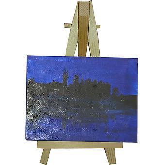 Keith Parry Mini lona y soporte de Linlithgow Palace azul