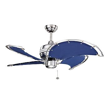 Ceiling Fan Spinnaker blue with pull cord 102 cm / 40
