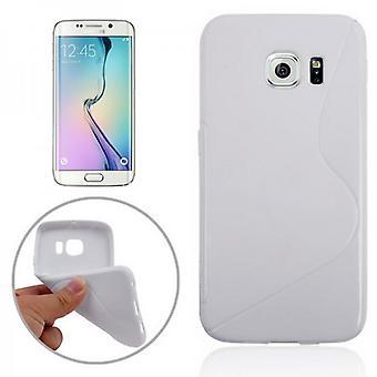 S-line silicone case white for Samsung Galaxy S6 edge G925 G925F