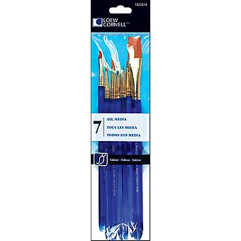Taklon Craft Brush Set-7/Pkg
