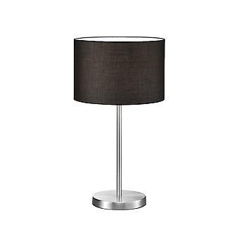 Trio Lighting Hotel Modern Nickel Matt Metal Table Lamp
