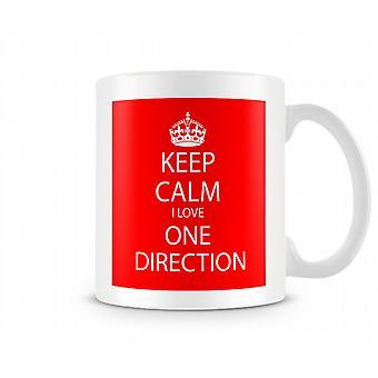 Keep Calm amo una tazza stampata di direzione
