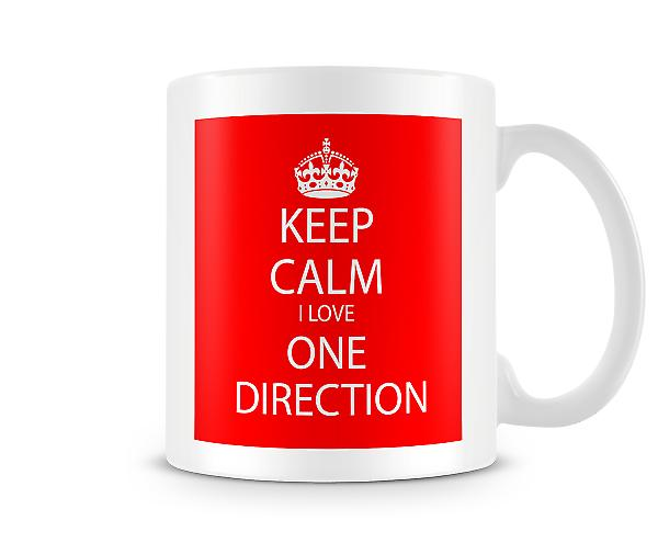 Keep Calm I Love One Direction Printed Mug