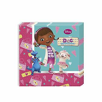 Doc McStuffins toy doctor party napkins 33 x 33 cm 20pcs children birthday theme party