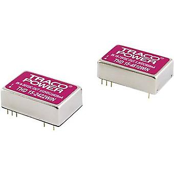 TracoPower THD 15-2423WIN DC/DC converter (print) 24 Vdc 15 Vdc, -15 Vdc 500 mA 15 W No. of outputs: 2 x