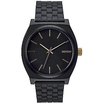 Nixon The Time Teller Watch - Matte Black/Gold