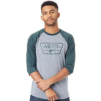 Vans Heather Grey-Darkest Spruce hela patchen Raglan T-Shirt