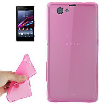 Handyhülle Transluzente TPU Tasche für Sony Xperia Z1 mini Pink