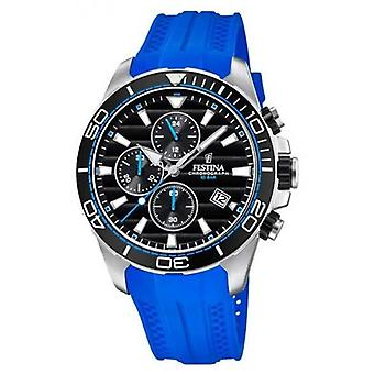 Festina Tour Of Britain 2018 Chrono Blue Rubber Strap F20370/5 Watch
