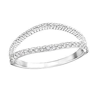 Open - 925 Sterling Silver Cubic Zirconia Rings - W23269X