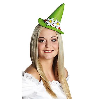 Tyrolean Edelweiss green hair clip