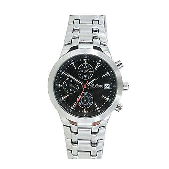 s.Oliver men's wrist watch analog quartz chronograph SO-15057-MCR