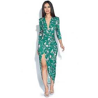 Floral Print Dress Kim Plunge