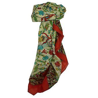 Morera de seda clásico cuadrado rojo de Hestia bufanda de Pashmina y seda