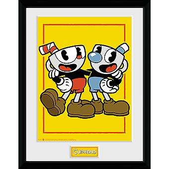 Cuphead Cuphead and Mugman Framed Collector Print