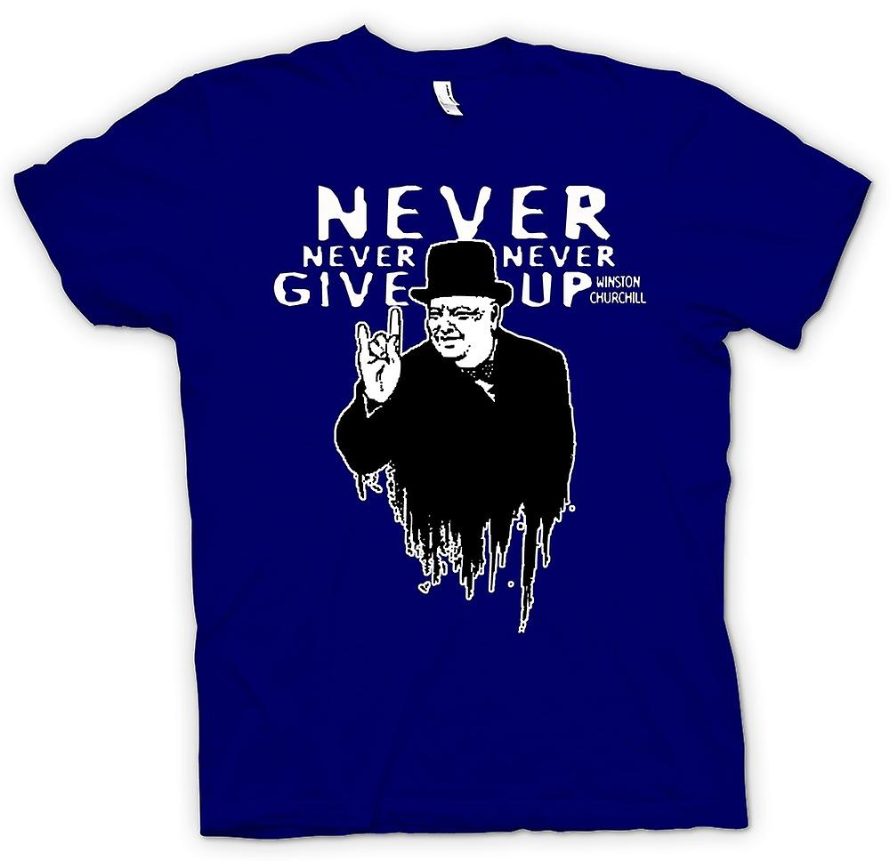 Mens T-shirt - Winston Churchill Salute - WW2