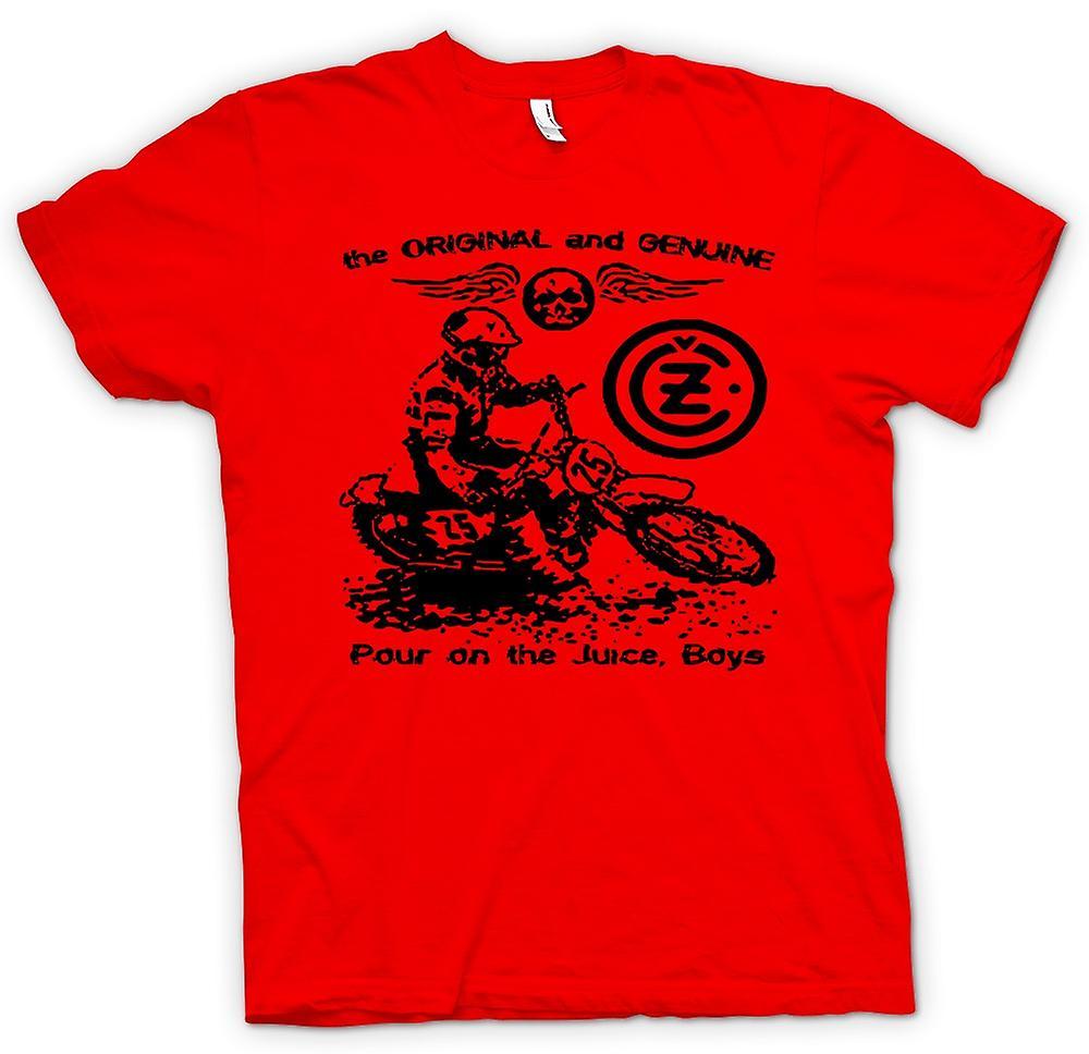 Mens t-skjorte - Jawa CZ Juice - klassisk Moto