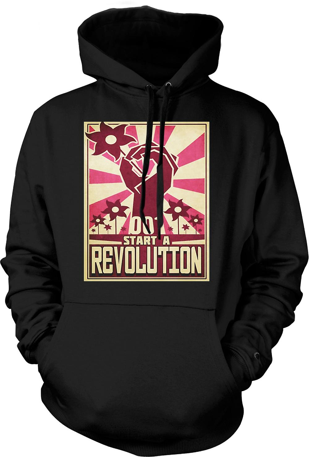 Mens Hoodie - Start A Revolution - Cool Design