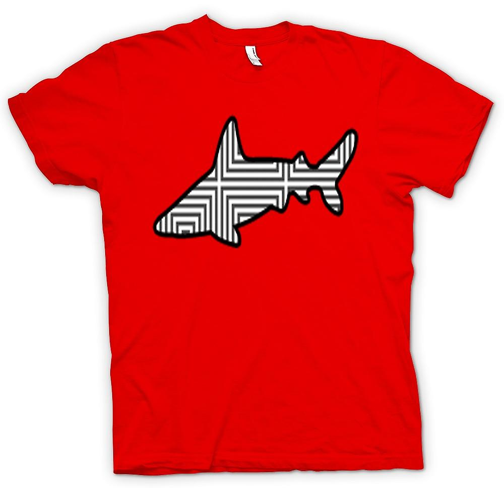 Heren T-shirt-Shark With patroon Design