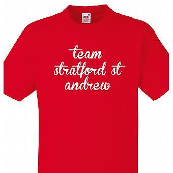 Team van Stratford st andrew Red T shirt