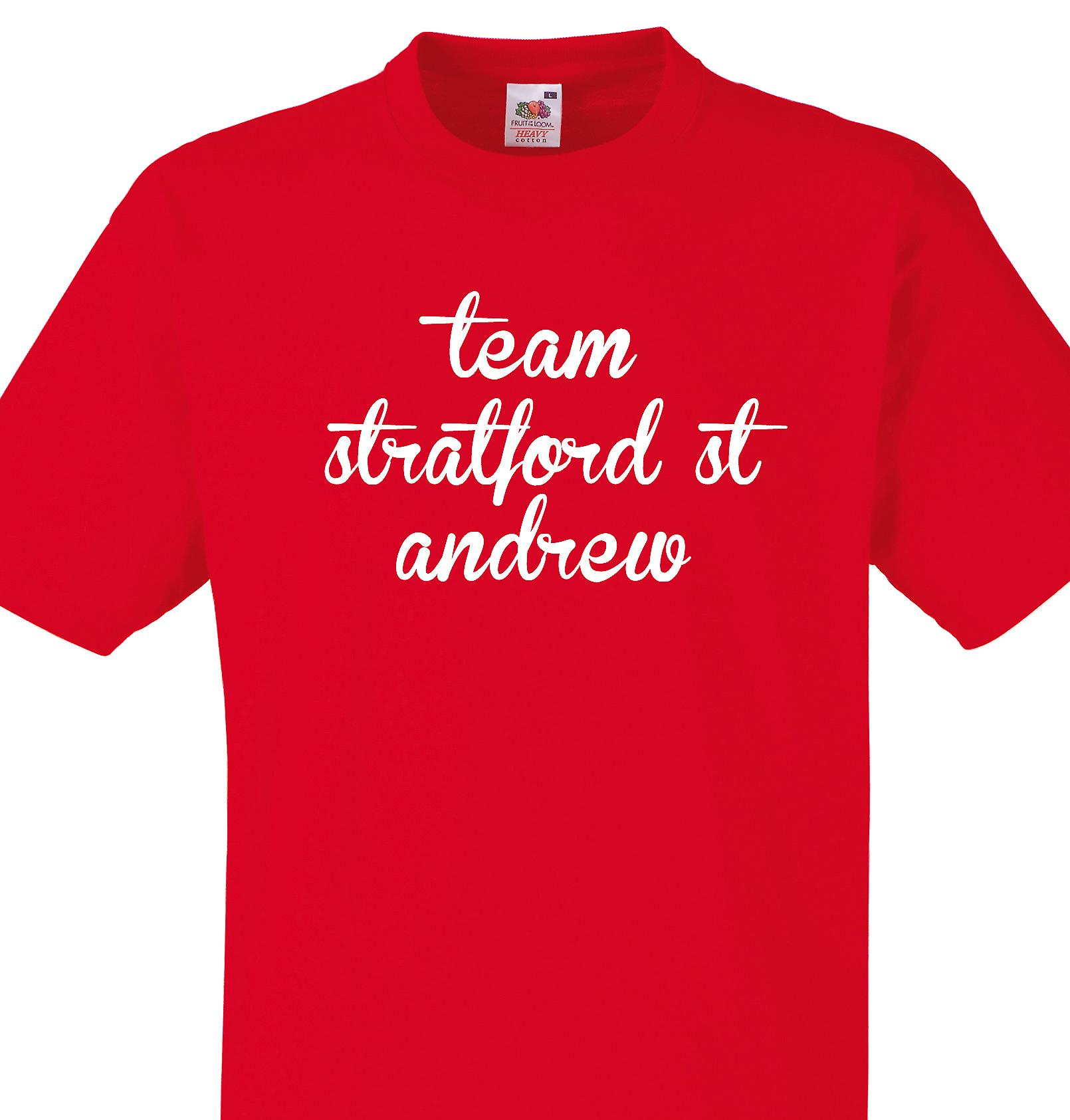 Team Stratford st andrew Red T shirt