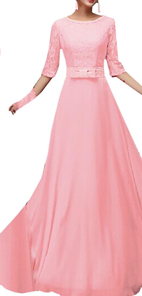 Waooh - lang kjole med blonder Ivon