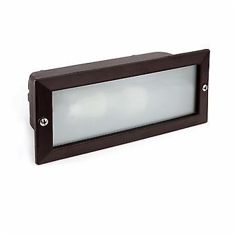 Faro - Liso svart utomhus infällda vägg ljus FARO71491