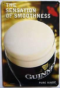 Guinness Sensation of Smoothness embossed steel sign