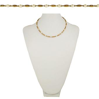 Eternal Collection Indulgence 18 Inch Gold Tone And Faux Pearl Necklace
