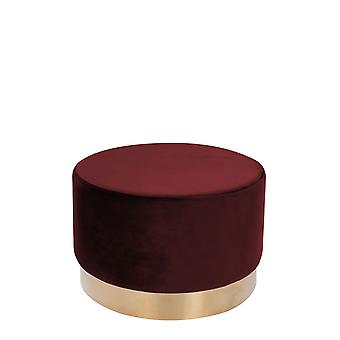 Samt Hocker Groß Pouf Gold Messing Sitzhocker Samt Retro Rot