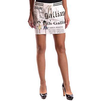 John Galliano White/black Cotton Skirt