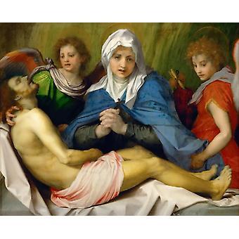 Jammeren av Kristus, Andrea del Sarto, 50x40cm