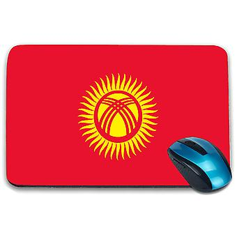 i-Tronixs - Kyrgystan Flag Printed Design Non-Slip Rectangular Mouse Mat for Office / Home / Gaming - 0092