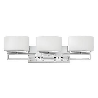 Elstead-3 lys badeværelse over spejl væg lys poleret krom IP44-HK/LANZA3 BATH