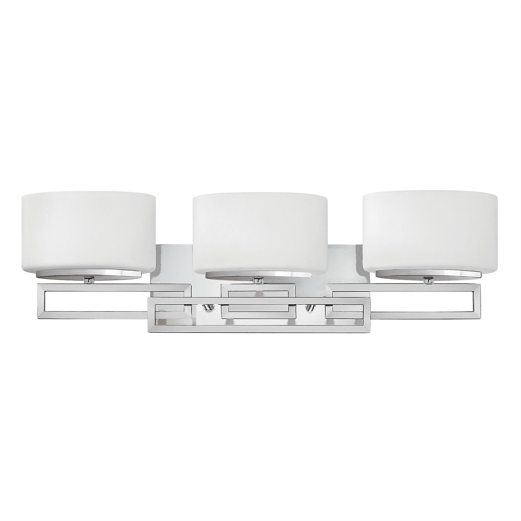 Elstead - 3 lumière Bathroom Over Mirror Wall lumière Polished Chrome IP44 - HK LANZA3 BATH