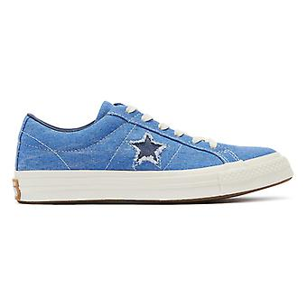 Converse One Star Mens Totally Blue Ox Trainers