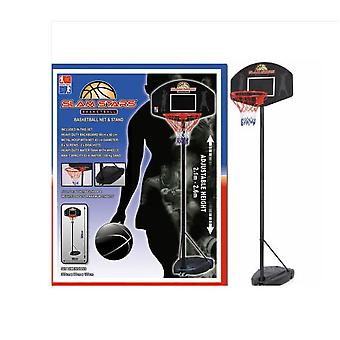 Slam Stars Basketball Hoop Net - Full Sized And Adjustable Stand