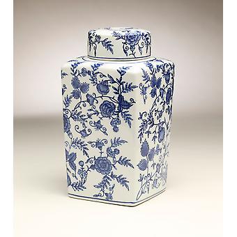 AA importieren 59950 12-Zoll-Quadrat blau & weißes Glas