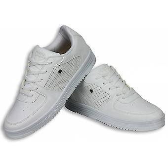 Zapatos de hombre-Zapatillas de hombre de bajo estado blanco completo