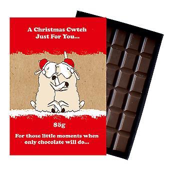 Grappige kerstcadeau voor vriend boxed chocolade feestelijke xmas aanwezig voor mannen vrouwen XMS112