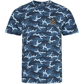 Staffordshire Regiment Veteran - Licensed British Army Embroidered Camouflage Print T-Shirt