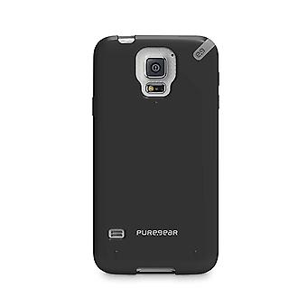 PureGear One-piece Design Snap-on Slim Shell Case for Samsung Galaxy S5 - Black