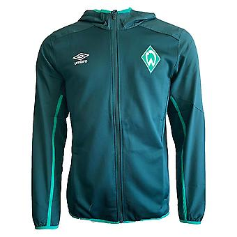 2019-2020 Werder Bremen Umbro Hooded Jacket (Green)