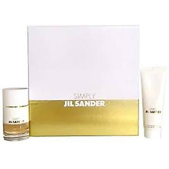 Jil Sander Simply Gift Set 40ml EDT + 75ml Body Milk