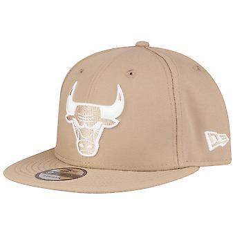 New Era 9Fifty Snapback Cap - Chicago Bulls camel beige