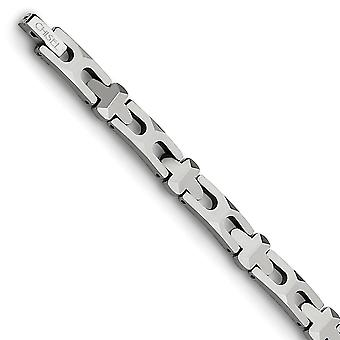 Tungsten Fold-over Polished Bracelet - 8.25 Inch