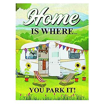 Caravan - Home is where you park it fridge magnet (og)