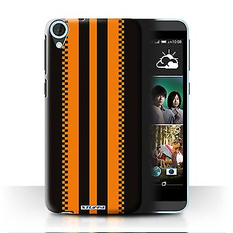 STUFF4 Case/Cover for HTC Desire 820q Dual/Japanese/Black/Racing Car Stripes
