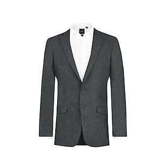 Dobell Mens Grey Donegal Tweed Jacket Slim Fit Notch Lapel
